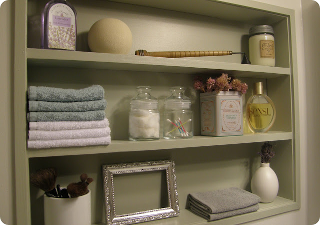 Shelving Next To Our Bathroom Vanity Who Doesn T Love Extra Bathroom