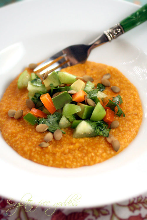 Pumpkin Polenta Recipe with Tomatillo-Avocado Salsa | Gluten-Free ...