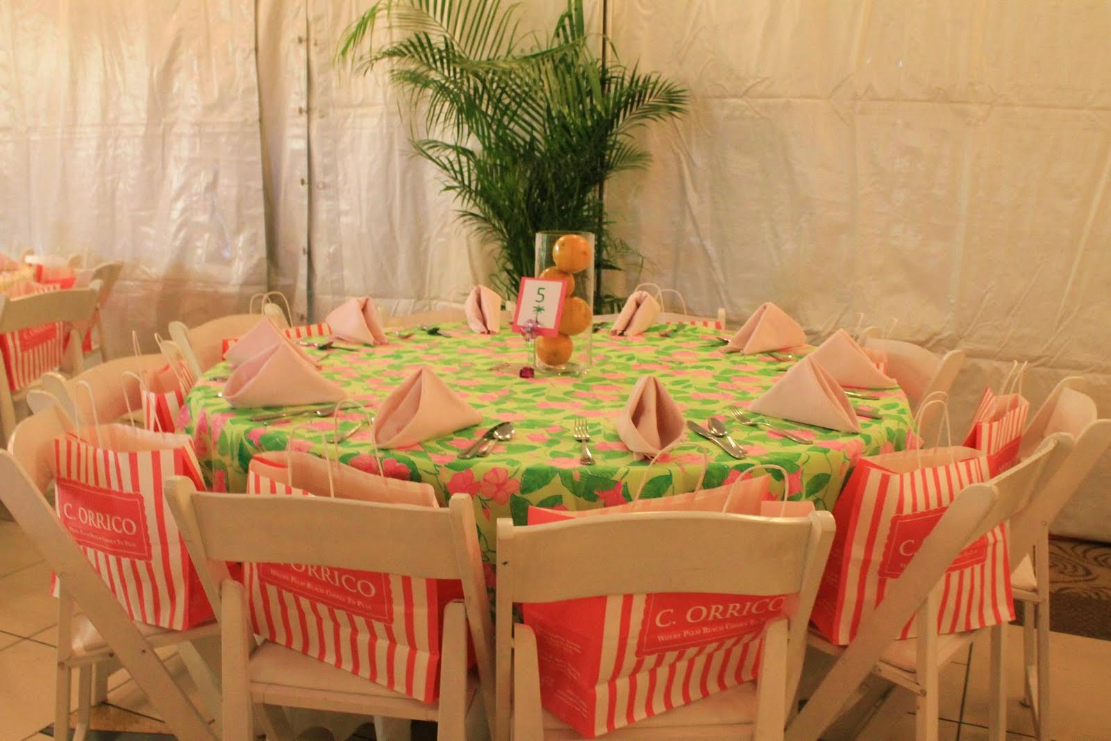 Maryland Pink and Green Lillys 80th Birthday Party Recap