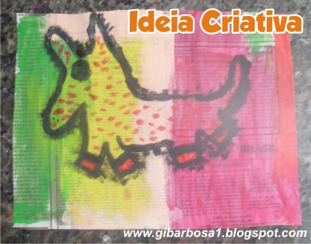 Amado Aula de Artes Romero Britto - Técnica Pintura em Jornal   Ideia  RO18