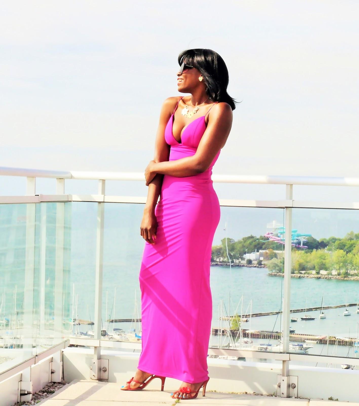 Hot Maxi Dress by Rare London