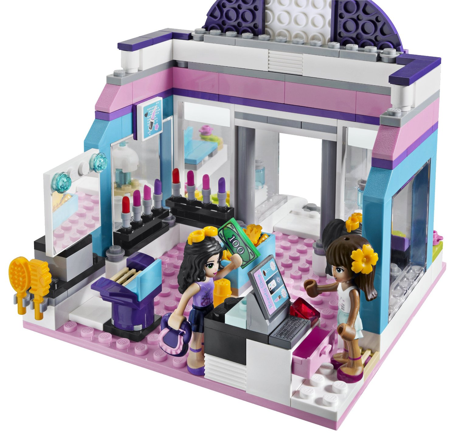 My lego style lego friends butterfly beauty shop 3187 - Salon de coiffure lego friends ...