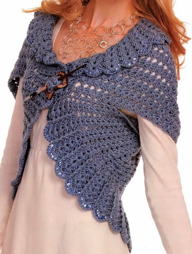 Crochet Shrug : Crochet Shrug - Vest For Women