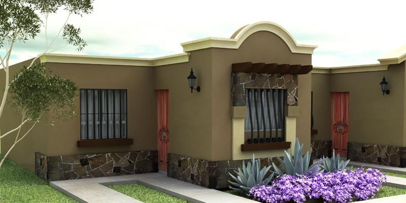 Vector3d solucion creativa integral fachadas casas chicas - Casas de chicas ...