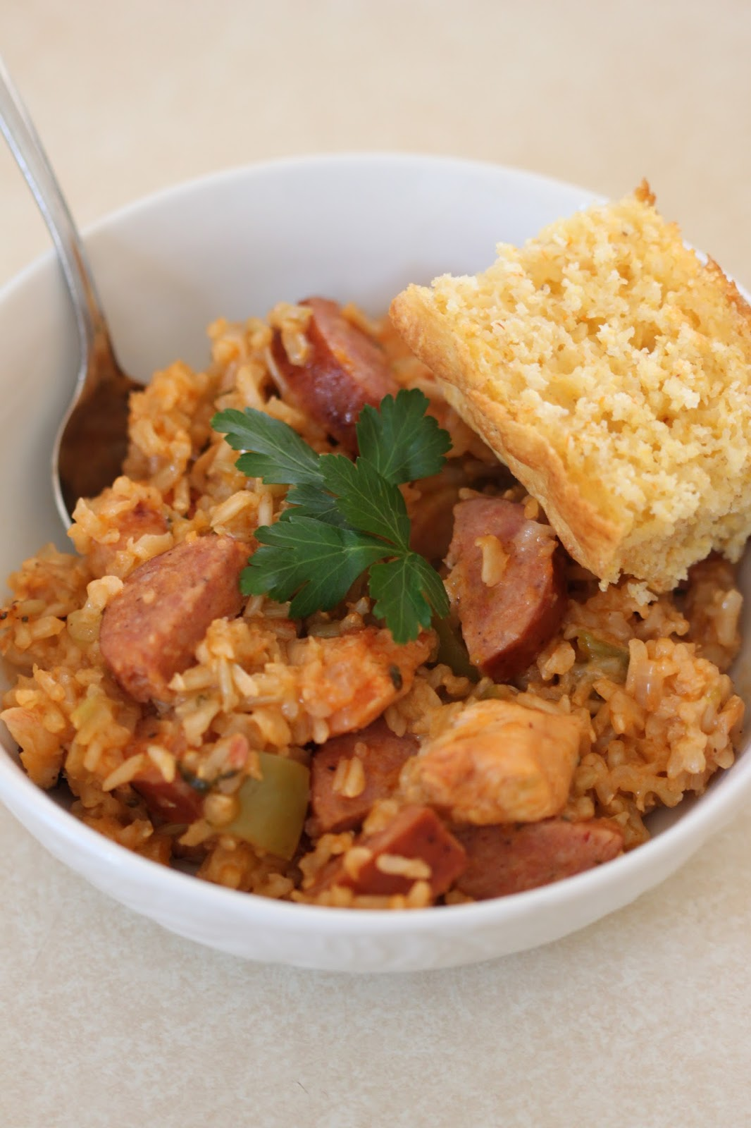 Chicken and Sausage Jambalaya | Tortillas and Honey