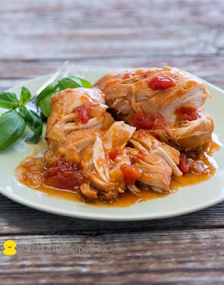 Slow Cooker Tomato Sriracha Chicken