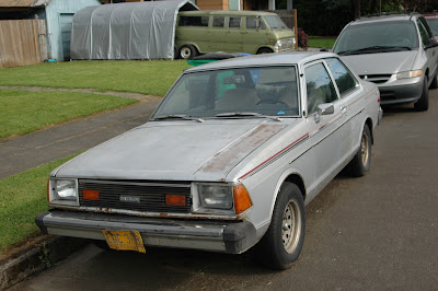1981 Datsun 210 two-door sedan.