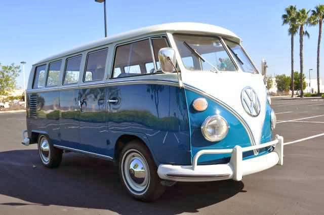 Vw bus deluxe 13 window sea blue vw bus for 13 window