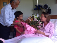 Kirsty Sword-Gusmao with Xanana in Melbourne hospital after cancer surgery