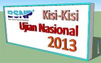 Kisi-Kisi Ujian Nasional Tahun 2012/2013 Lengkap untuk SMP/MTs, SMPLB, SMA/MA, SMALB dan SMK