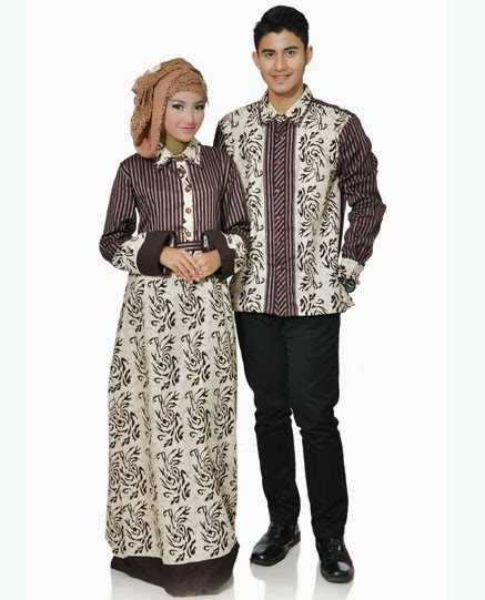 Contoh Baju Muslim Couple Trendy Lengan Panjang