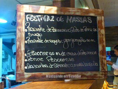 Oliva Gourmet: Menu das Massas do rodízio