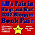 All's Fair in Blogs and War!  Book Fair Winners!