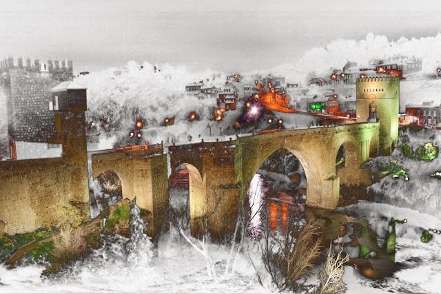 imagenes fotos creativas, de toledo ciudad, de Castilla la Mancha, fotos nocturnas toledo,
