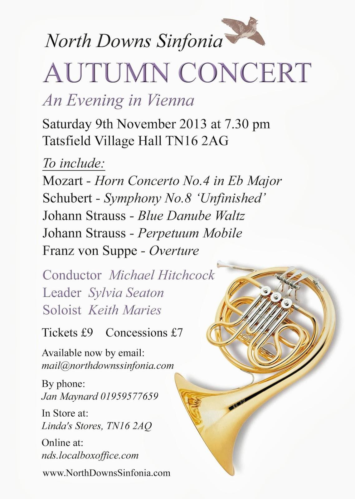 2013 autumn concert poster