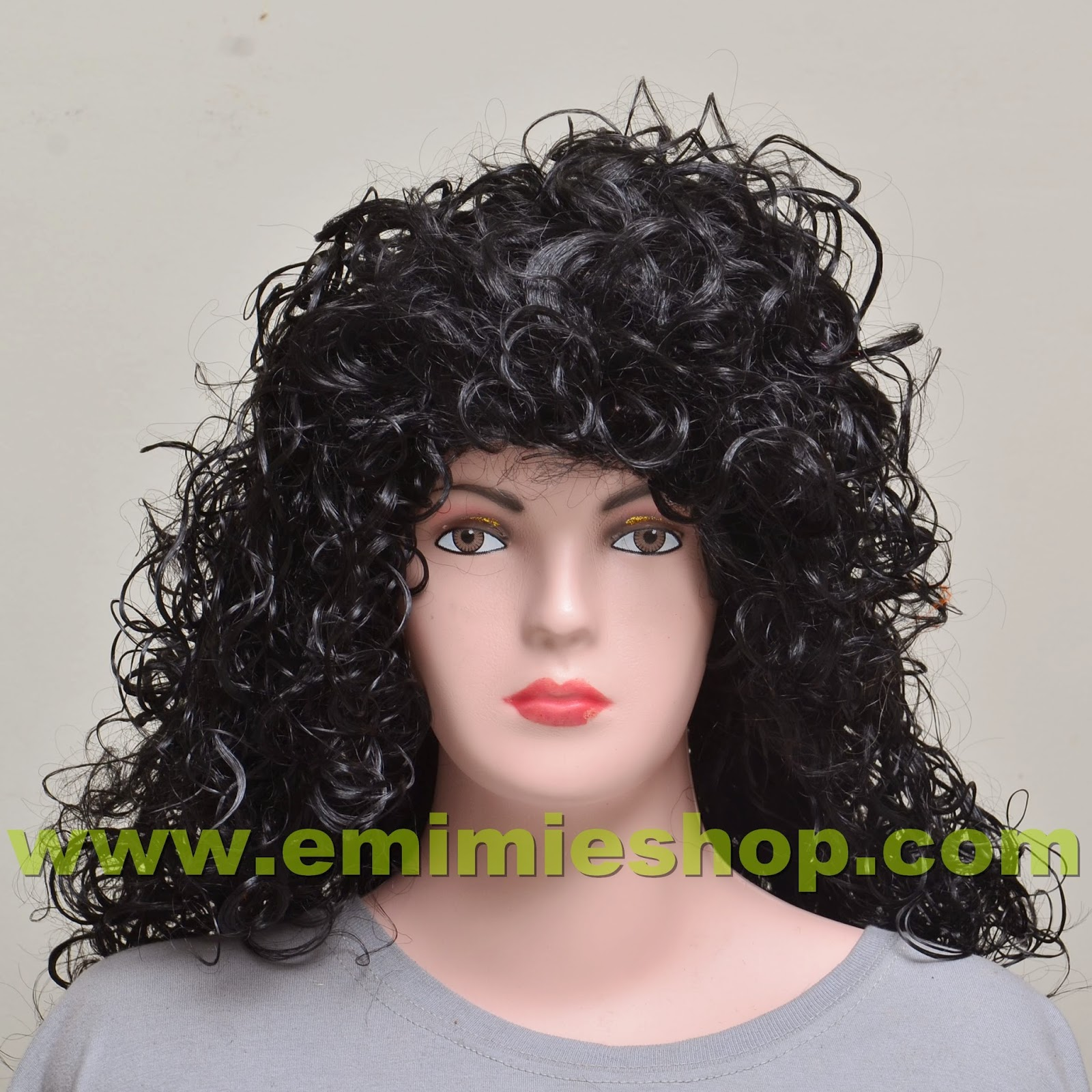 Wig Keriting Hitam
