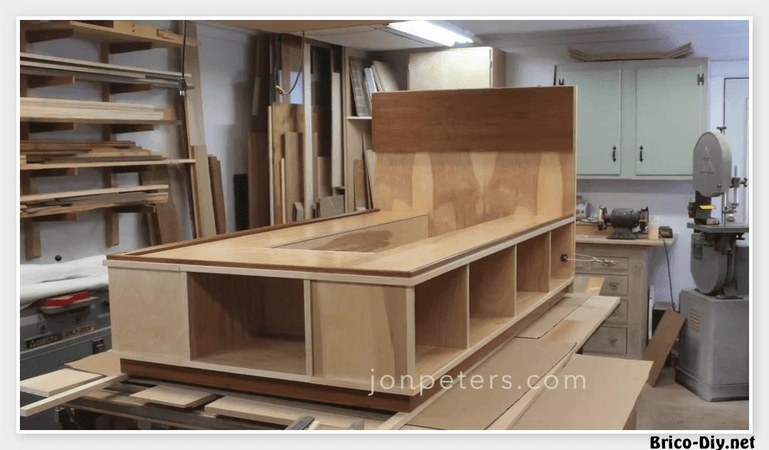 Como hacer una cama de madera - Fabricar cama abatible ...