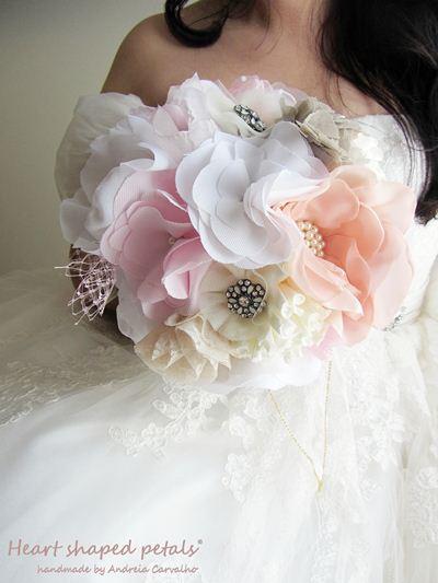 shabby chic fabric brooch bouquet