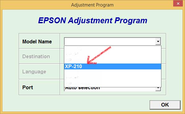 reset epson XP-211