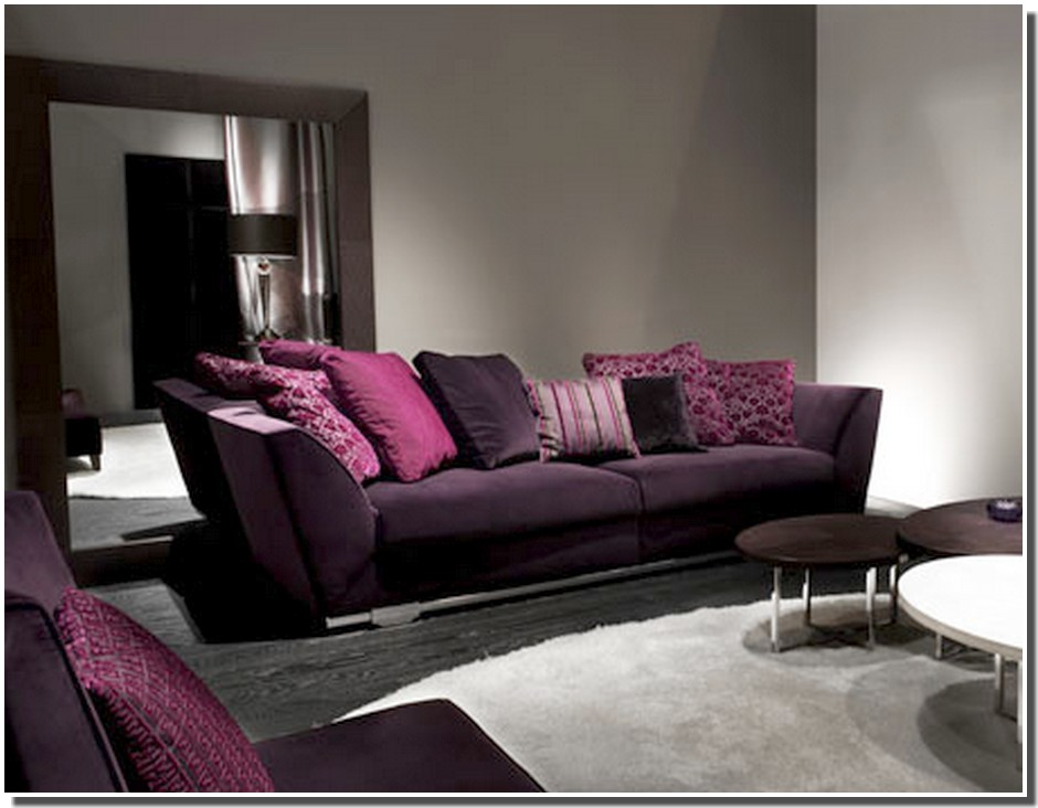 deco salon moderne violet avec des id es. Black Bedroom Furniture Sets. Home Design Ideas