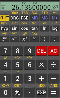 screenshot of Real Calc on my phone