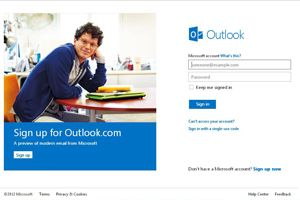 Microsoft's new email service Outlook.com