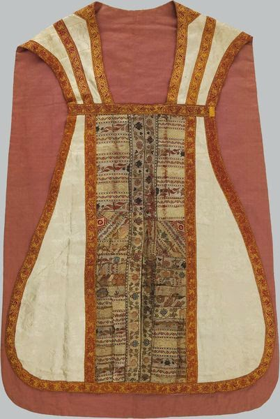 Chasuble decorated with the 18th century Sluck sash's fragment from the National Art Museum of Belarus