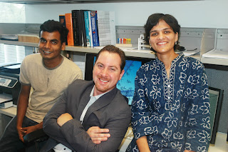 Avishek Saha, Professor Angel Marti and Disha Jain