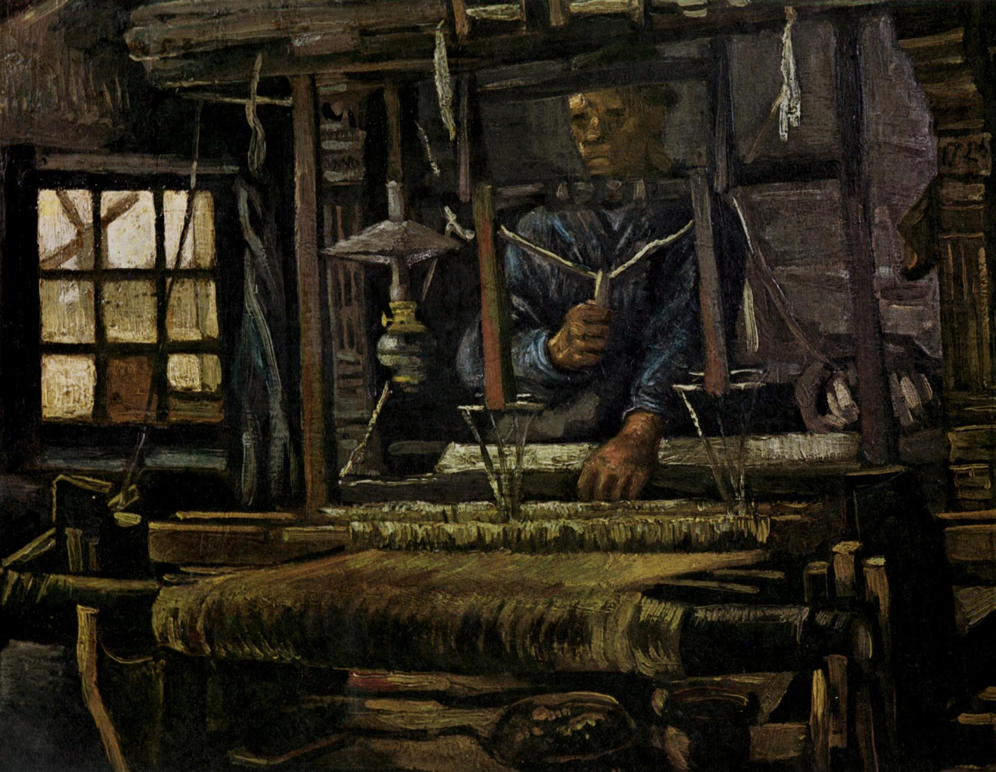 Weaver Seen From the Front by Vincent van Gogh