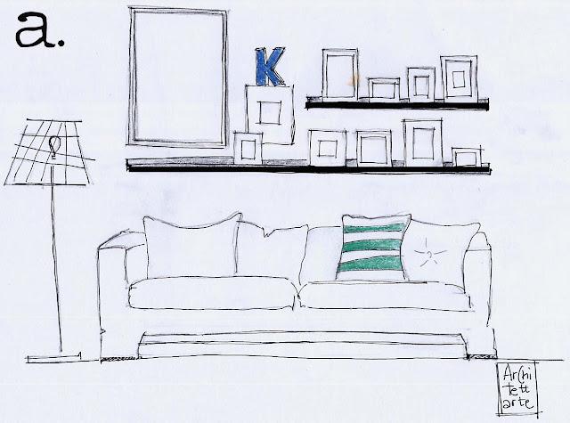 Architettarte come appendere i quadri for Mensole per quadri