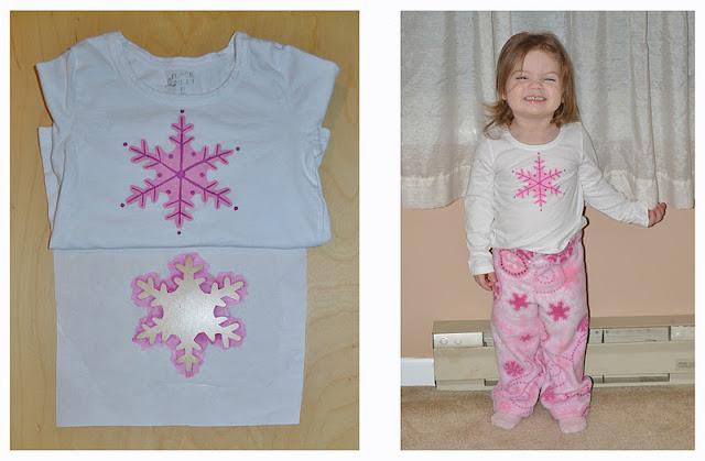 Pink snowflake pajamas