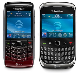 BlackBerry Pearl 3G 9100 and Curve 3G 9300 now available via AT&T