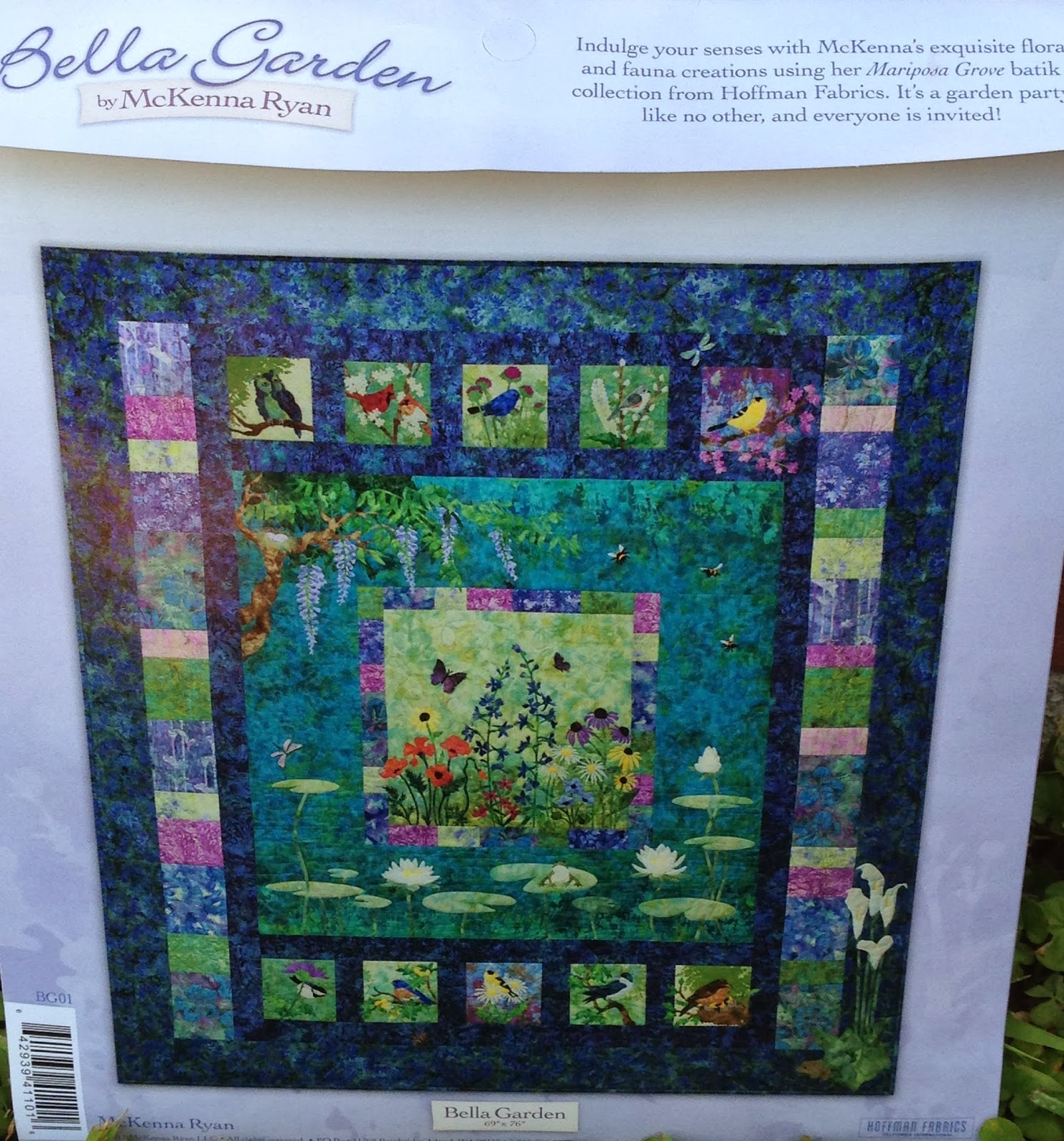 Sew Much To Quilt Mckenna Ryan Quilt Bella Garden Block One