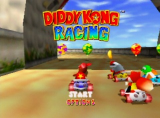Title screen of Diddy Kong Racing for Nintendo 64
