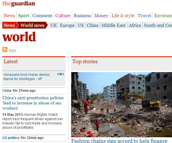 World News : The Guardian