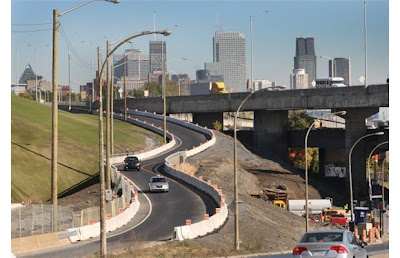 Montreal Quebec Construction Curve Dangerous