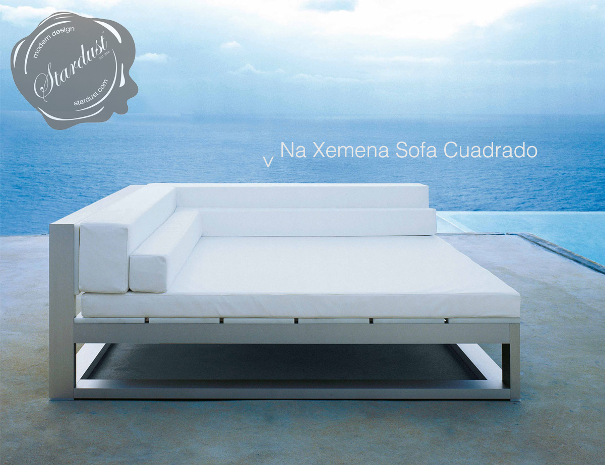 modern outdoor lounge sofa gandia blasco na xemena sofa cuadrado. Black Bedroom Furniture Sets. Home Design Ideas