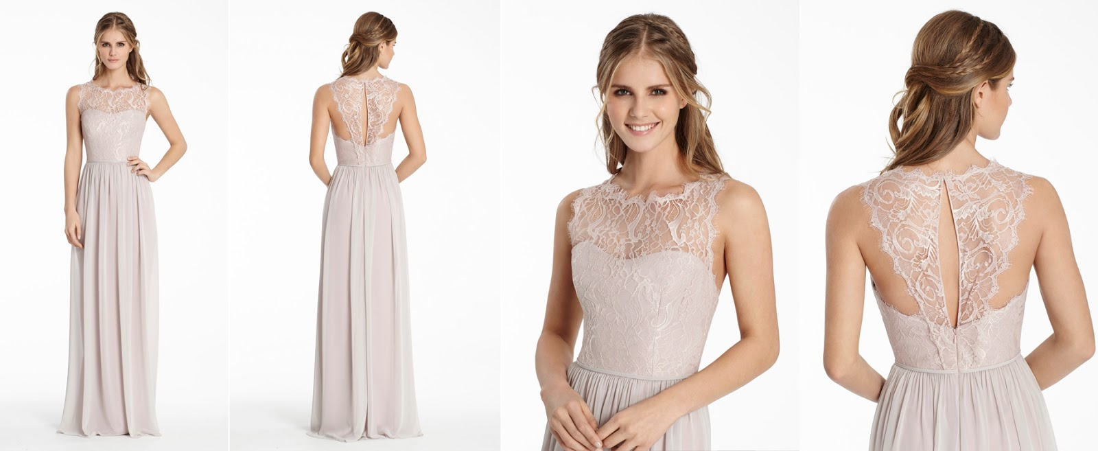 Miss ruby boutique bridesmaids dresses with unique backs a lace yolk in sheer lace balances out the front of this dress ombrellifo Images