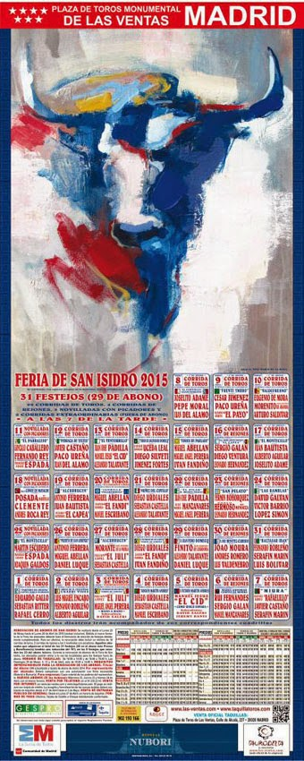 MADRID CARTEL FERIA SAN ISIDRO 2015. AUTOR DE LA OBRA QUE ILUSTRA EL CARTEL JOSÉ MARIA DE LA ROSA.