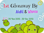 First Giveaway by Aidil dan Waniee