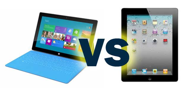 Microsoft Surface VS Apple iPad 3