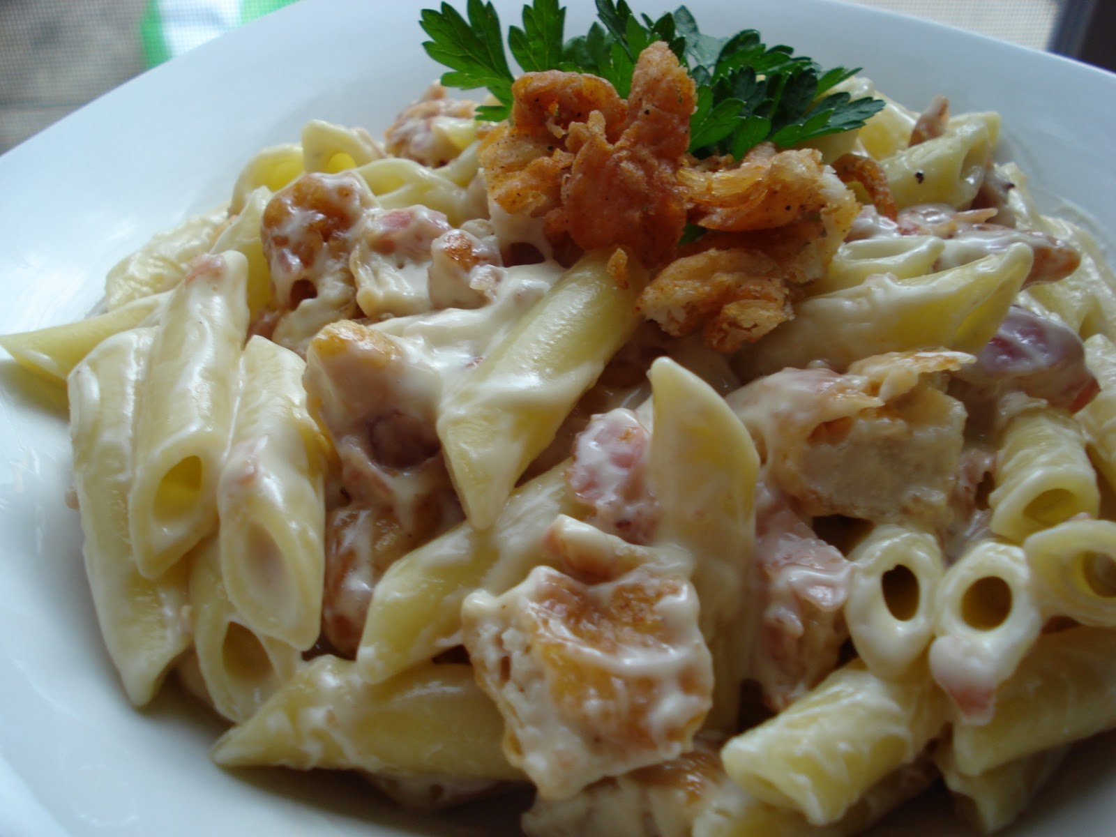 Yeast Free- Pain Free: Chicken Cordon Bleu Pasta