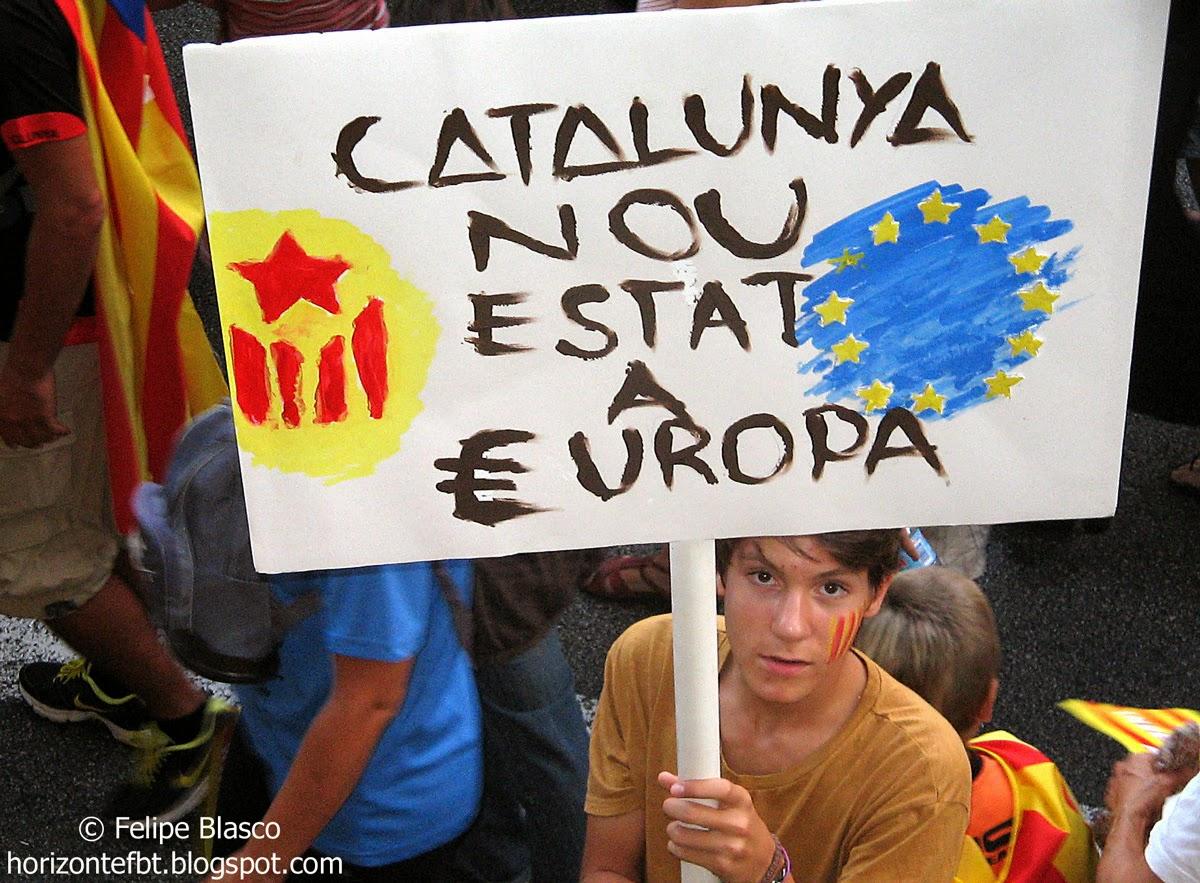 Manifestación Diada 2012 en Barcelona