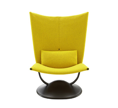 house furniture modern chair design in yellow by pierre paulin