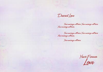 Love - Valentine Card and Frame Inside