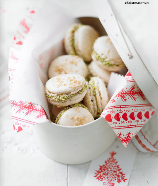 Adore Home magazine, french macarons with salted nut caramel recipe