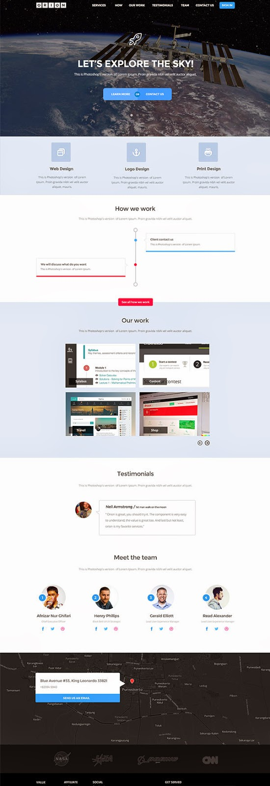 Free Download PSD Template