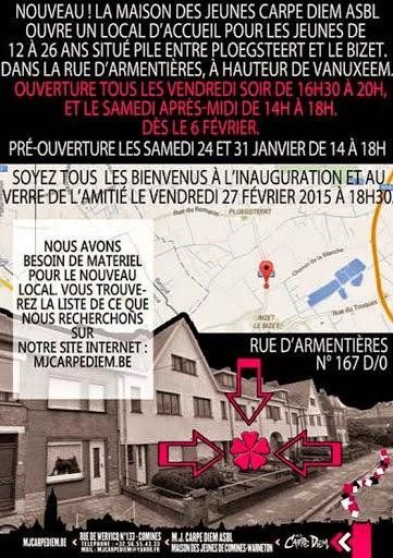 27 février ouverture de la maison des jeunes à Ploegsteert