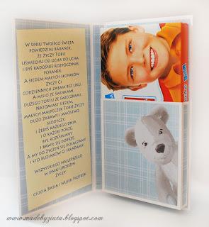 czekoladnik, opakowanie na czekoladę, kartka na urodziny dla chłopczyka