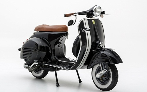 modifikasi motor vespa warna hitam